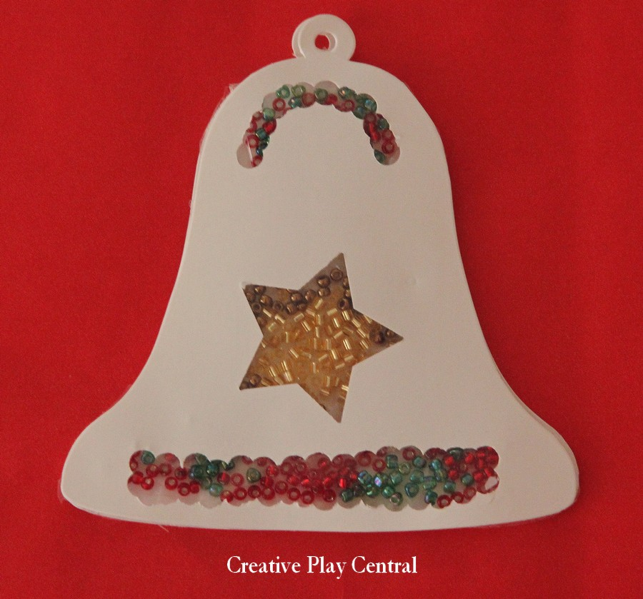 Picture 156 seed bead bell gift tag