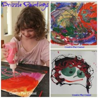 Drizzle paintings collage for blog