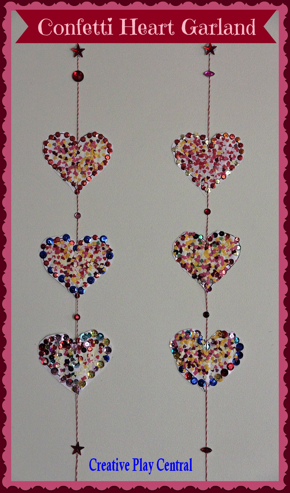 Picture 198 Confetti heart garland for Valentine's Day