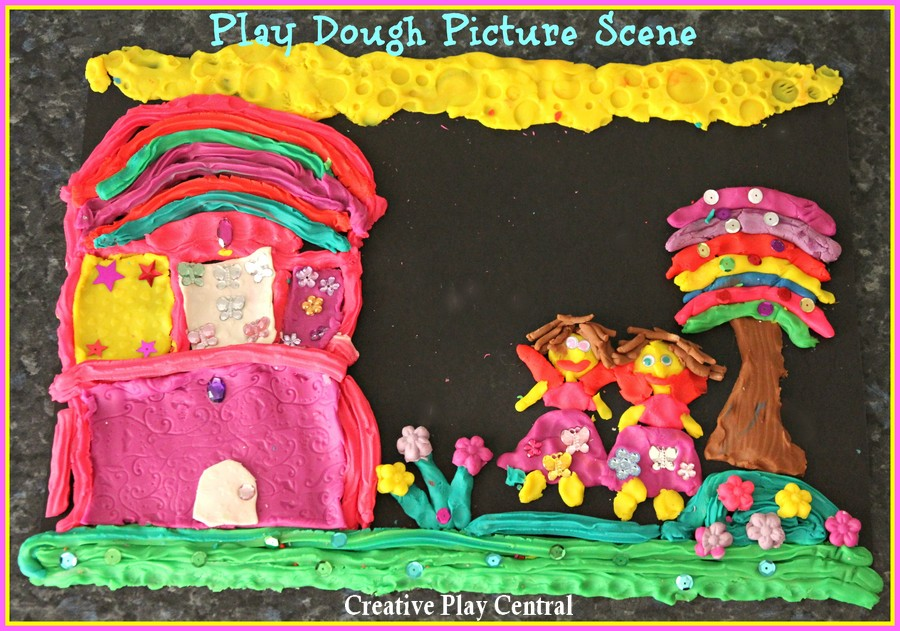 Picture 035 Fairy playdough scene with title