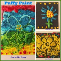Puffy Paint Collage for blog