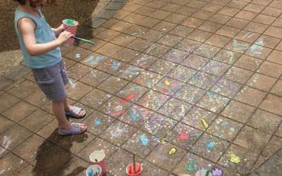 Chalk Paint Splatter Painting