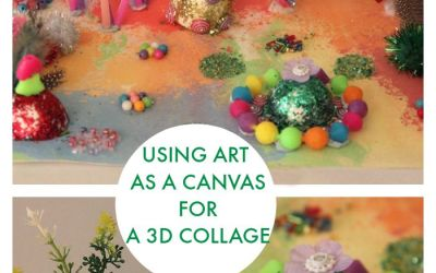 Children's Art Inspires 3D Collage